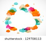 colorful clouds   abstract... | Shutterstock .eps vector #129708113