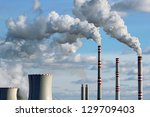 polluted smoke from coal power... | Shutterstock . vector #129709403