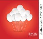 balloons on red background 01 | Shutterstock .eps vector #129718877