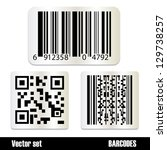 Set Of Standard Barcodes Isolated On White Background - Vector Illustration, Graphic Design Editable For Your Design. Barcode Sticker