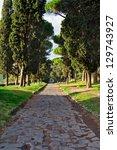 Small photo of antic road in Rome, Via Appia Antica