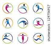 fitness globe elements. graphic ...   Shutterstock .eps vector #129756917