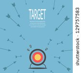 Target and arrow , vector