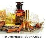 bottles with ingredients for... | Shutterstock . vector #129772823