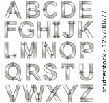 metallic alphabet letters...