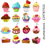 illustration of isolated set of ... | Shutterstock . vector #129787523
