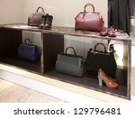 Boutique-bags and shoes - stock photo