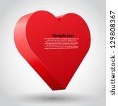 A Big Red 3d Heart Vector...