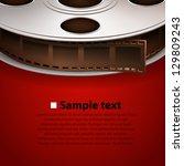 film frame cover tape  vector... | Shutterstock .eps vector #129809243