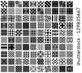100 geometric seamless patterns ... | Shutterstock .eps vector #129835667