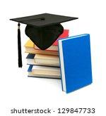 a graduating degree in school...   Shutterstock . vector #129847733