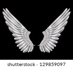 raster version of silver wings | Shutterstock . vector #129859097