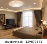panoramic interior design... | Shutterstock . vector #129873593