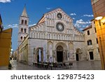 cathedral of zadar  calle larga ...   Shutterstock . vector #129875423