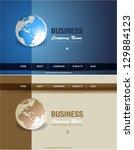 business website template ...   Shutterstock .eps vector #129884123