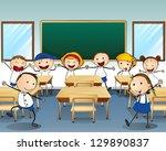 illustration of children... | Shutterstock . vector #129890837