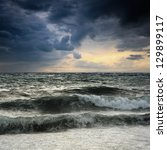 View Of Storm Seascape In The...