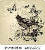Vintage Background With Birds ...