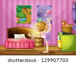 illustration of a young girl... | Shutterstock . vector #129907703
