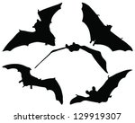 bats illustration collection... | Shutterstock .eps vector #129919307