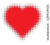 Red Heart Halftone Logo  Vecto...