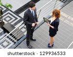 confident business partners in... | Shutterstock . vector #129936533