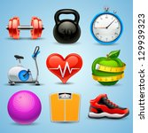 apple,athlete,athletic,ball,barbell,bike,bodybuilding,calorie,colorful,design,detailed,diet,dumbbell,eating,elements