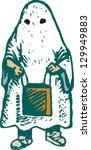 vector illustration of little... | Shutterstock .eps vector #129949883