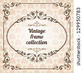 set of vintage ornate frames... | Shutterstock .eps vector #129950783