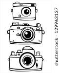 set of three vintage film photo ... | Shutterstock . vector #129963137