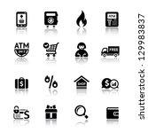 set shopping icons | Shutterstock . vector #129983837