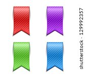 set of bookmarks isolated | Shutterstock .eps vector #129992357