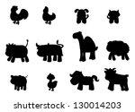 farm animal | Shutterstock .eps vector #130014203