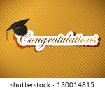 graduation - Congratulations lettering illustration design on a gold background - stock photo