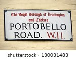 london street sign  portobello... | Shutterstock . vector #130031483