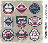 vintage and retro label. useful ... | Shutterstock .eps vector #130041053