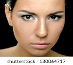a portrait of a beautiful woman ... | Shutterstock . vector #130064717