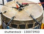 Постер, плакат: Indian drum and drum