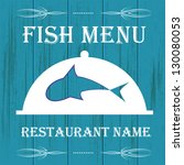 fish menu for restaurant | Shutterstock .eps vector #130080053
