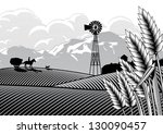 Illustration Of A Farmer And...
