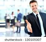 portrait of a successful... | Shutterstock . vector #130105307