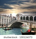Venice   Rialto Bridge And Wit...