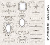 vector set  calligraphic design ... | Shutterstock .eps vector #130133927