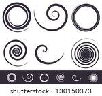 "vector "" spiral "" set"