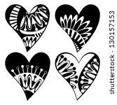 set of composite hearts for... | Shutterstock .eps vector #130157153