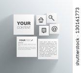 cubes web design | Shutterstock .eps vector #130161773