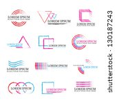 collection of geometric symbols ... | Shutterstock .eps vector #130187243