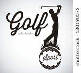 illustration of golf icons ...   Shutterstock .eps vector #130190573