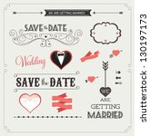 set of wedding ornaments and... | Shutterstock .eps vector #130197173