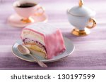 Pastry with coffee - stock photo